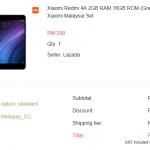 Smartphone Xiaomi Redmi 4A dari harga asal RM449 jadi RM299 sempena Lazada Online Revolution 11.11